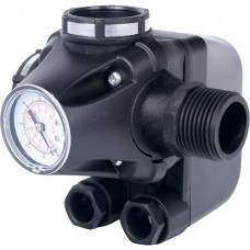 STOUT Реле давления для водоснабжения со встроенным манометром PM5-3W, 1-5 бар