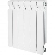 STOUT VEGA 350 4 секций радиатор алюминиевый боковое подключение (белый RAL 9016)