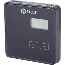 Stout Беспроводной комнатный регулятор R-8b, черный