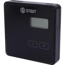 Stout Беспроводной комнатный двухпозиционный регулятор ST-294v2, черный