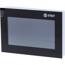 Stout Беспроводная панель управления M-8e для рейки L-8e, чёрная