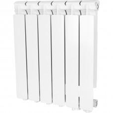 Stout Bravo 500 6 секции радиатор алюминиевый нижнее правое подключение (белый RAL 9010)
