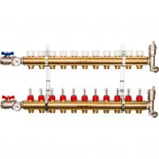 Stout Распределительный коллектор из латуни с расходомерами 11 вых.
