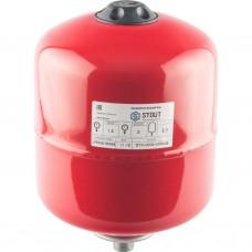 Stout Расширительный бак на отопление 8 л. (цвет красный)