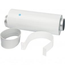 Stout Элемент дымохода DN60/100 труба коаксиальная 250 мм п/м, уплотнения и хомут в комплекте