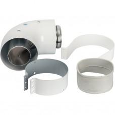 Stout Элемент дымохода DN60/100 адаптер для котла угловой 90° коаксиальный (совместимый с Vaillant,