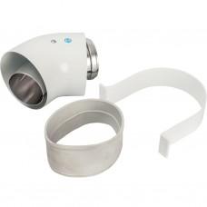 Stout Элемент дымохода отвод коаксиальный 45° DN60/100, п/м уплотнения и хомут в комплекте (с логоти