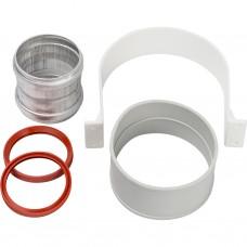 Stout Элемент дымохода для соединеия труб DN60/100, м/м соед. муфта с уплотнен,хомут с муфтой EPDM в