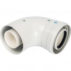Stout Элемент дымохода конденсац. колено 90°/ адаптер 90° DN60/100 м/п PP-FE (совместим. с Baxi,Vies