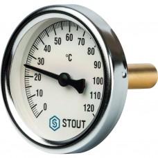 """Stout Термометр биметаллический с погружной гильзой. Корпус Dn 63 мм, гильза 50 мм 1/2"""" 120"""