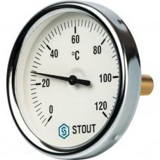 """Stout Термометр биметаллический с погружной гильзой. Корпус Dn 80 мм, гильза 50 мм 1/2"""""""