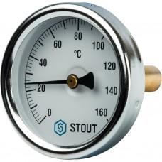 """Stout Термометр биметаллический с погружной гильзой. Корпус Dn 63 мм, гильза 50 мм 1/2"""" 160"""