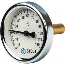 Stout Термометр биметаллический с погружной гильзой. Корпус Dn 63 мм, гильза 50 мм, резьба с самоупл