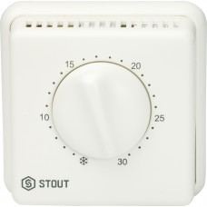 Stout Комнатный проводной термостат TI-N с переключателем зима-лето и светодиодом