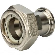 """Stout Разъемное соединение с плоским уплотнением и обратным клапаном, никелированное 3/4"""""""