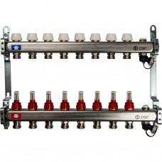 Stout Коллектор из нержавеющей стали с расходомерами, с клапаном вып. воздуха и сливом 8 вых.