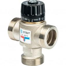 """Stout Термостатический смесительный клапан для систем отопления и ГВС 1 1/4"""" НР 30-65°С KV 3,5"""
