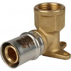 """Stout Угольник настенный с креплением короткий 1/2""""х20 для металлопластиковых труб прессовой"""