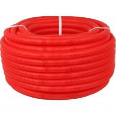 Stout Труба гофрир.ПНД, цвет красный, наружным диаметром 25 мм для труб диаметром 16-22 мм