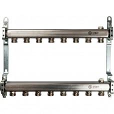 Коллектор из нержавеющей стали для радиаторной разводки 8 вых.