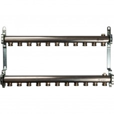 Коллектор из нержавеющей стали для радиаторной разводки 11 вых.