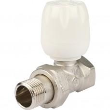 """Клапан ручной терморегулирующий с неподъемным шпинделем, прямой 1/2"""""""